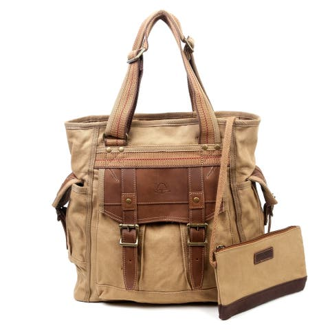 TSD Brand Turtle Ridge Canvas Tote