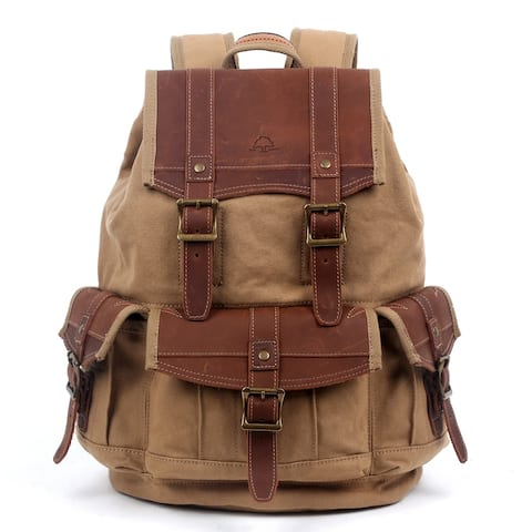 TSD Brand Turtle Ridge Canvas Backpack