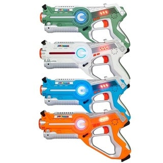 Link to Infrared Laser Tag Guns Blasters Set Best Toy for kids Multiplayer Mode 4 pack Similar Items in Toy Vehicles
