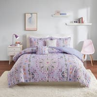 Intelligent Design Thea Purple Printed Comforter Set
