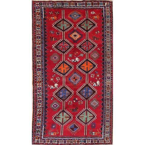 "Lori Tribal Geometric Hand-Knotted Wool Persian Oriental Area Rug - 9'8"" x 5'6"""