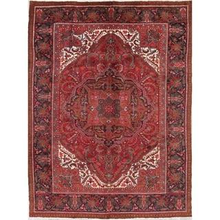 "Heriz Geometric Hand-Knotted Wool Persian Oriental Area Rug - 9'4"" x 7'0"""
