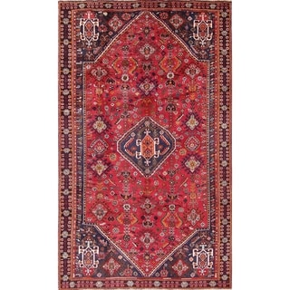 "Abadeh Tribal Geometric Hand-Knotted Wool Persian Oriental Area Rug - 8'5"" x 5'0"""