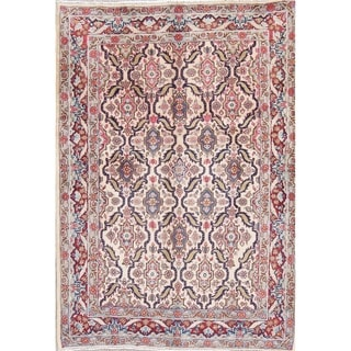 """Tabriz All-Over Floral Hand-Knotted Wool Persian Oriental Area Rug - 4'10"""" x 3'5"""""""