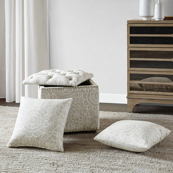 Shop Madison Park Cadmill Natural Storage Ottoman On