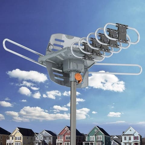 360-Degree Rotation UV Dual Bands 28-36dB Outdoor Antenna Install-free Guide