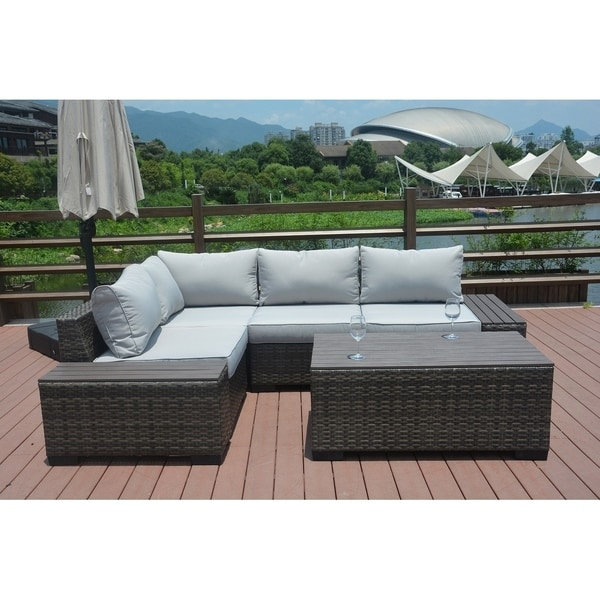 Shop 7-piece Outdoor Sofa Set By Direct Wicker Patio ... on Outdoor Loveseat Sets id=40747