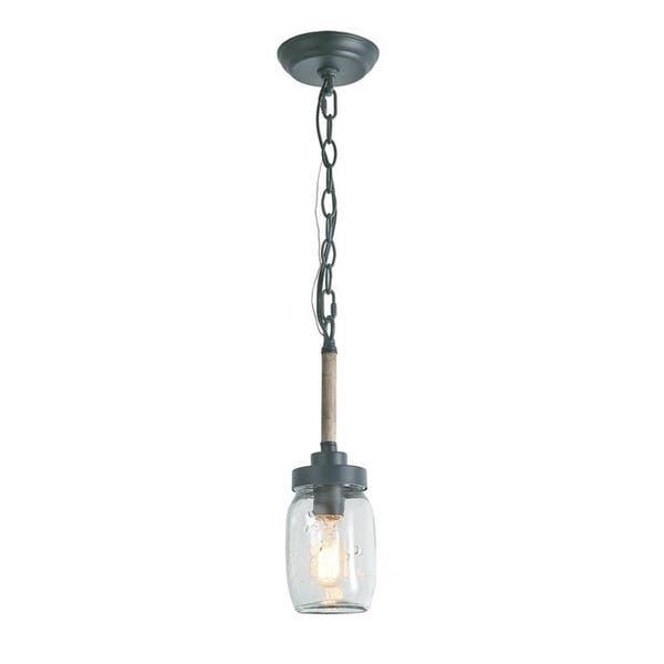 Anelo Mason Jar 1 Light Pendant Light Overstock 27621035