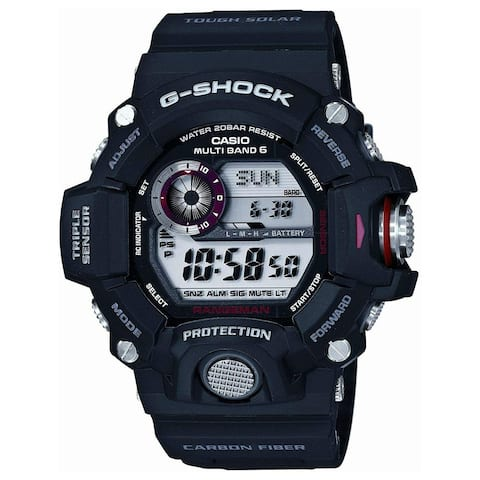 Casio Men's GW9400J-1JF 'G-Shock' Black Carbon Fiber Watch