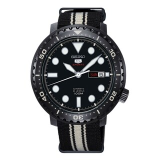 Link to Seiko Men's SRPC67 '5 Sports' Two-Tone Nylon Watch Similar Items in Men's Watches