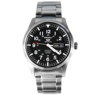Seiko SNZG13K1 5 Sports Black Dial Watch
