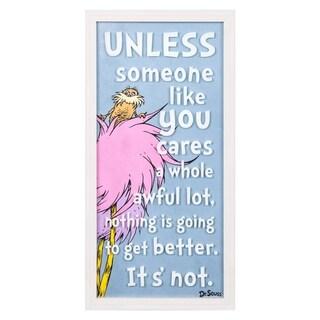 "Dr. Seuss The Lorax ""Someone Like You"" 10x20 Framed Print Glass Art"