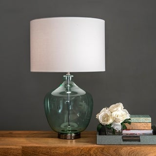 "Watch Hill 29"" Ulani Glass Pot Linen Shade Table Lamp"