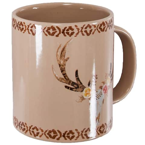 HiEnd Accents Bohemian Skull and Floral 4 Piece Mug Set