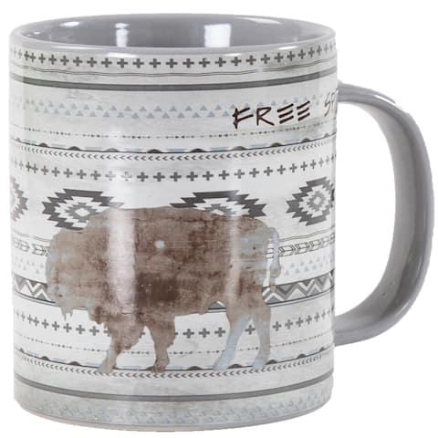 HiEnd Accents Bohemian Free Spirit 4 Piece Mug