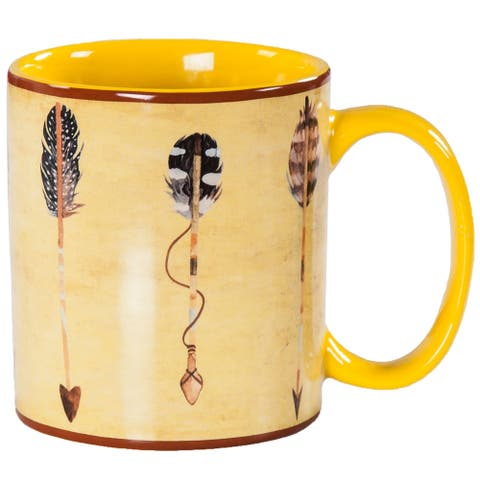 HiEnd Accents Bohemian Large Arrow 4 Piece Mug Set