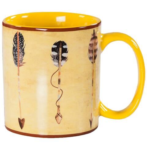 HiEnd Accents Bohemian Large Arrow 4 Piece Mug Set