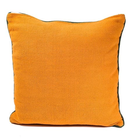 In-Sattva Home Handmade Cotton Canvas Solid Textured Cushion Pillow