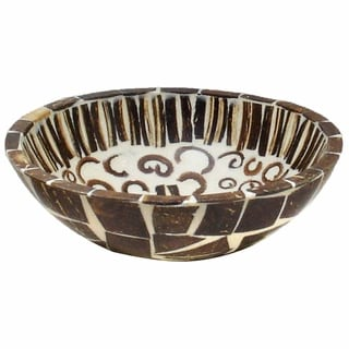 Handmade Natural Cinnamon and Coconut Shell Bowl (Indonesia)