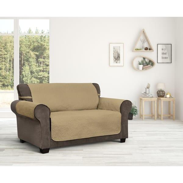 Marvelous Shop Belmont Leaf Secure Fit Recliner Furniture Cover Machost Co Dining Chair Design Ideas Machostcouk