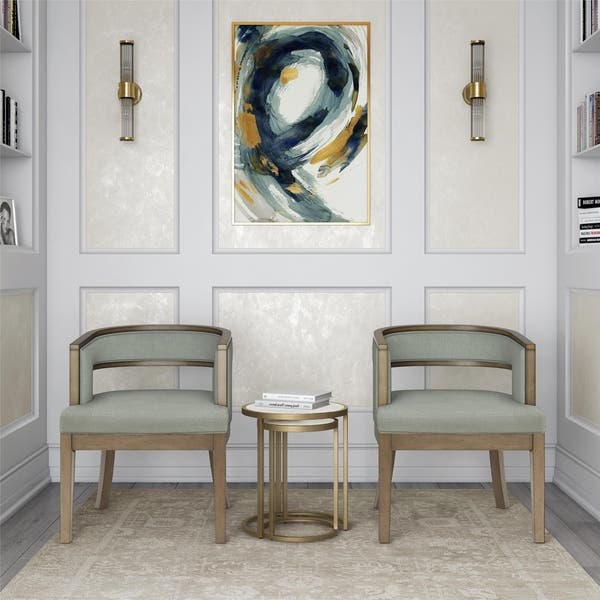 Wondrous Shop Avenue Greene Fresno Rounded Back Accent Chair Set Of Evergreenethics Interior Chair Design Evergreenethicsorg
