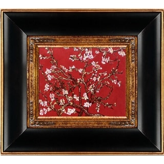 La Pastiche Original 'Branches of an Almond Tree in Blossom, Ruby Red' Hand Painted Oil Reproduction