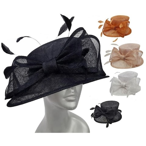 65cf978ecafbc Women s Straw Sinamay Kentucky Derby Bridal Hat