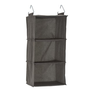 3-Shelf Hanging Organizer, Grey Linen - 12 x 12 x 25.40 inches