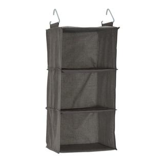 3-Shelf Hanging Organizer, Grey Linen