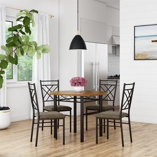Shop Avenue Greene Dania 5 Piece Bronze Dining Set On