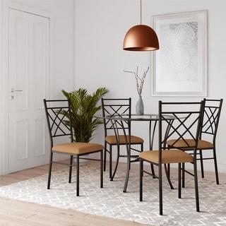 Copper Grove Obukhiv 5-piece Glass-top Bronze Dining Set