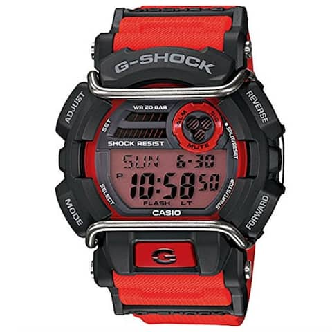 Casio Men's GD400-4 'G-Shock' Chronograph Red Resin Watch