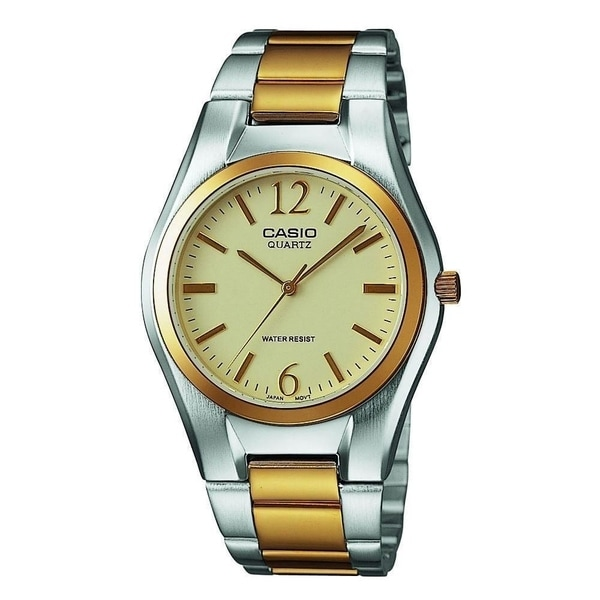 53105de41 Shop Casio Men's MTP-1253SG-9A 'Casual' Two-Tone Stainless Steel Watch -  Free Shipping Today - Overstock - 27622911