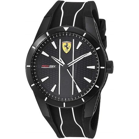 Ferrari Men's 830495 'Red Rev Evo' Two-Tone Silicone Watch