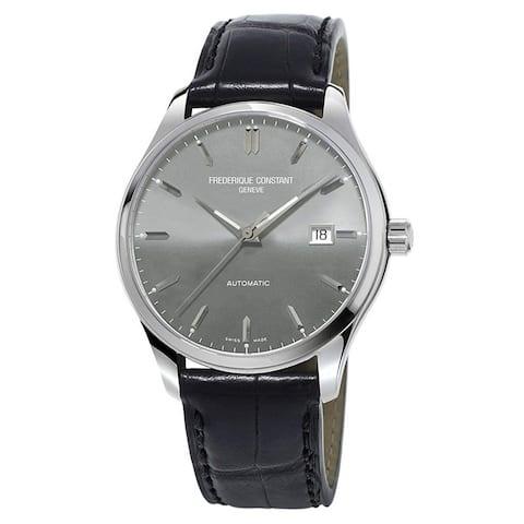 Frederique Constant Men's FC-303LGS5B6 'Classics' Black Leather Watch