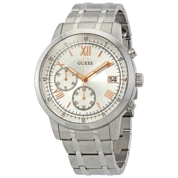 All Mens Sale Guess >> Shop Guess Men S W1001g1 Summit Chronograph Stainless Steel Watch
