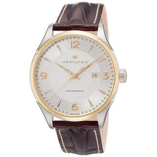 Link to Hamilton Men's H42725551 'Jazzmaster' Brown Leather Watch Similar Items in Men's Watches