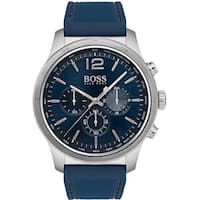 Hugo Boss Men's 1513526 'The Professional' Chronograph Blue Silicone Watch