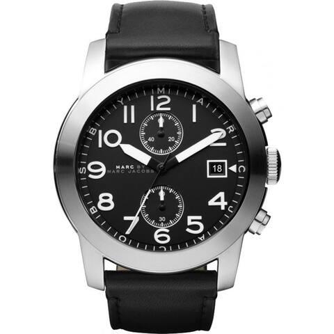Marc Jacobs Men's MBM5033 'Larry' Chronograph Black Leather Watch