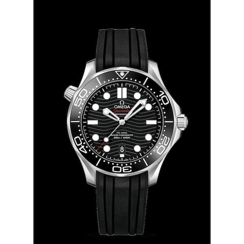 Omega Men's 210.32.42.20.01.001 'Seamaster' Black Rubber Watch