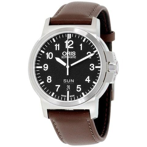 Oris Men's 73576414164LS 'BC3' Brown Leather Watch