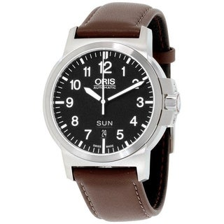 Link to Oris Men's 73576414164LS 'BC3' Brown Leather Watch Similar Items in Men's Watches