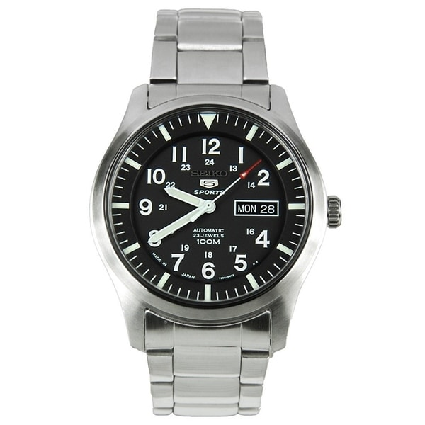Seiko Men's SNZG13J1 'Series 5' Stainless Steel Watch. Opens flyout.