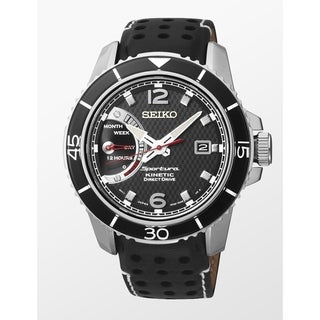 Link to Seiko Men's SRG019P2 'Sportura' Black Leather Watch Similar Items in Men's Watches