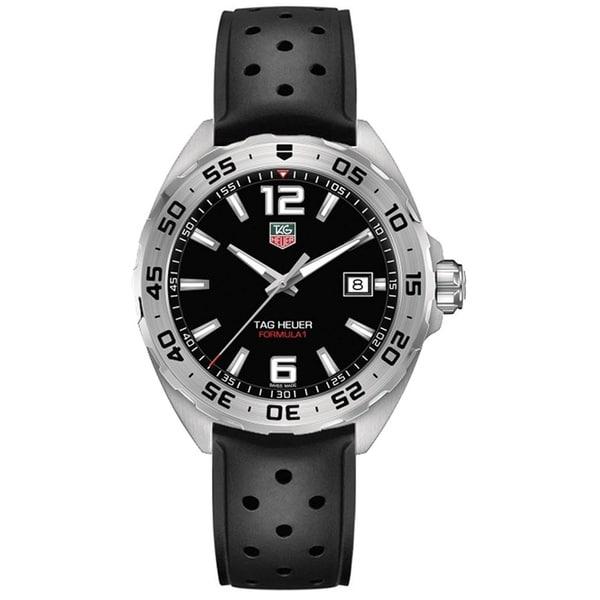 Tag Heuer Men's WAZ1112.FT8023 'Formula 1' Black Rubber Watch