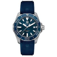 Tag Heuer Men's WAY111C.FT6155 'Aquaracer' Blue Rubber Watch