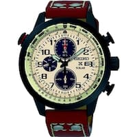 Seiko Men's SSC425 'Prospex' Chronograph Brown Leather Watch