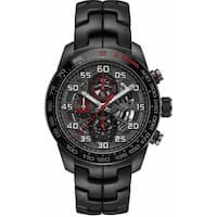 Tag Heuer Men's CAR2A1L.BA0688 'Carrera' Chronograph Black Stainless Steel Watch