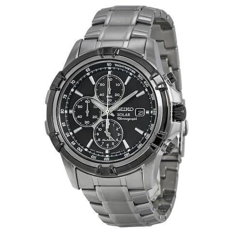 Seiko Men's SSC147 'Solar' Chronograph Stainless Steel Watch