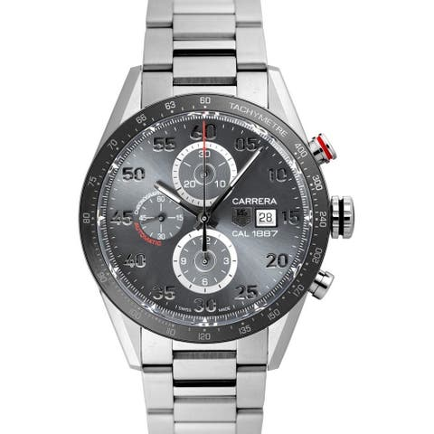 Tag Heuer Men's CAR2A11.BA0799 'Carrera' Chronograph Stainless Steel Watch
